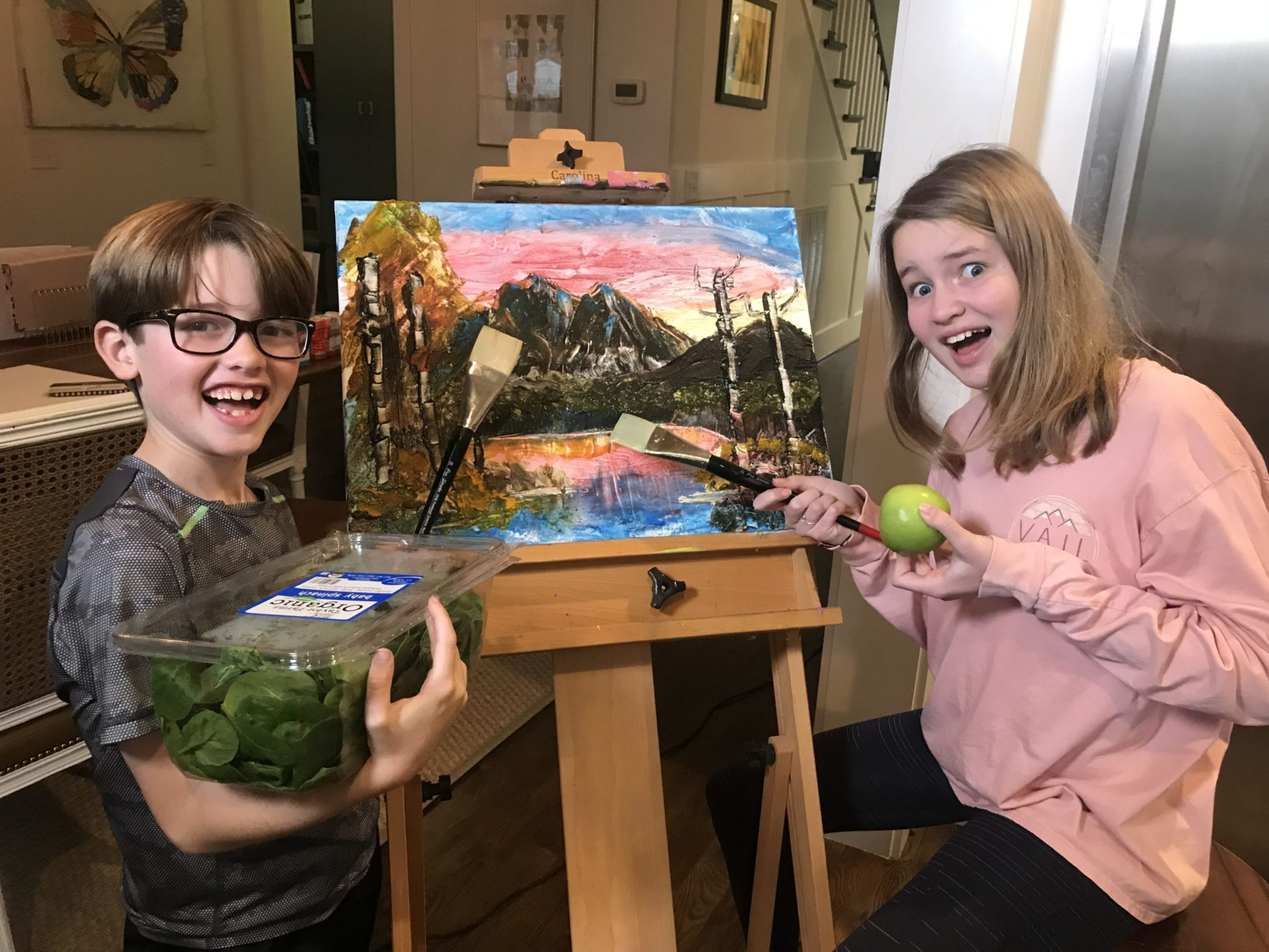 Bob Ross Painting with a Delicious Twist